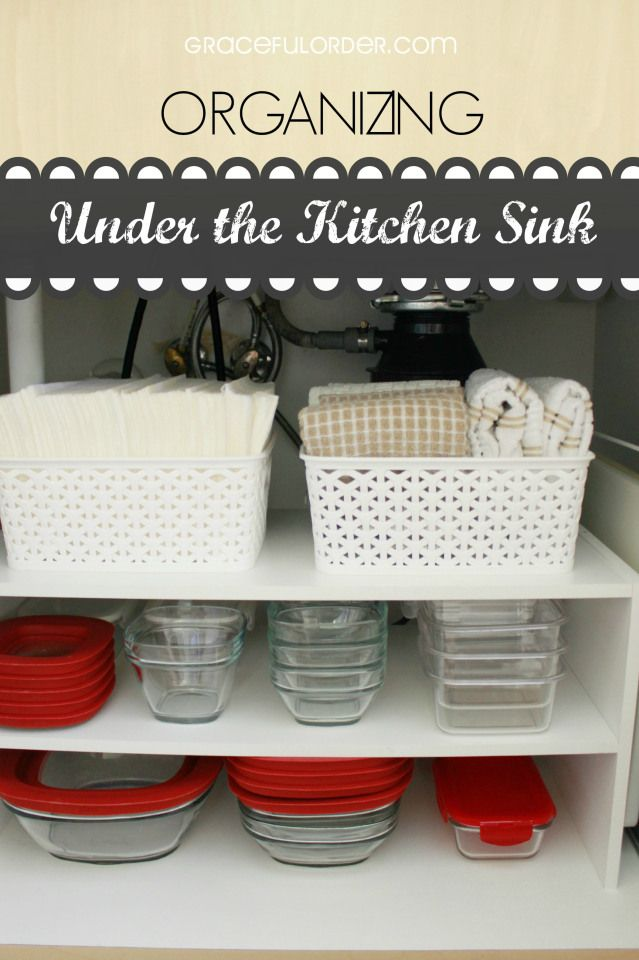 Easy Idea For Organizing Under The Kitchen Sink Graceful Order