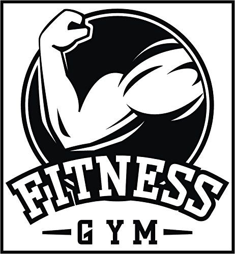 Fitness Gym Center Black and White Logo Icon Vinyl Decal Sticker (12 Tall #4) Reviews