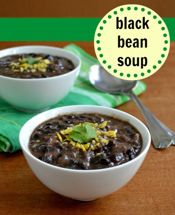 Cuban DishesCrock Pots, Food Real, Black Beans Soup, Black Bean Soup ...
