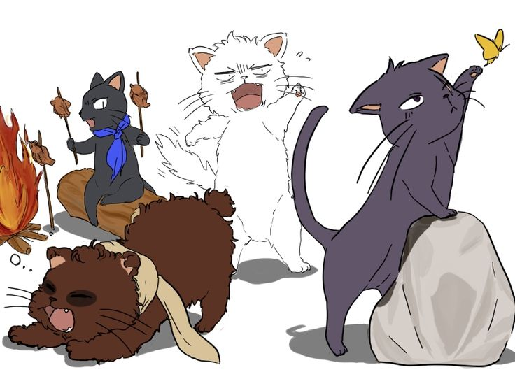 Gintama x Cats