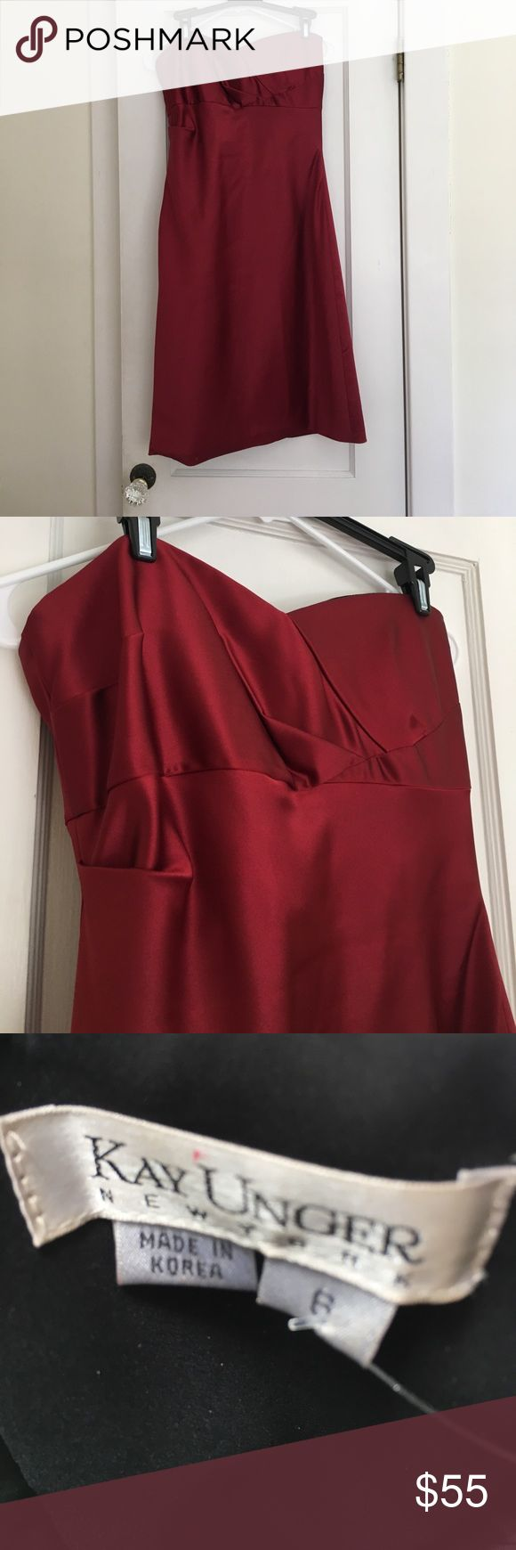 Kay Unger red strapless cocktail dress size 6 Kay Unger red strapless cocktail dress size 6 Kay Unger Dresses