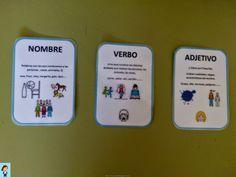Algunos niños tienen mucha dificultad a la hora de distinguir el sustantivo, el verbo y el adjetivo. Y los maestros o papás, nos volvemos l...