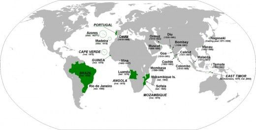 "in the XV century #Portugal had the eastern half of the ""New Word"", including Brazil, Africa, and Asia. The Portuguese Empire was actually the first global empire in history! It was also one of the longest-lived colonial powers, lasting for almost six centuries."