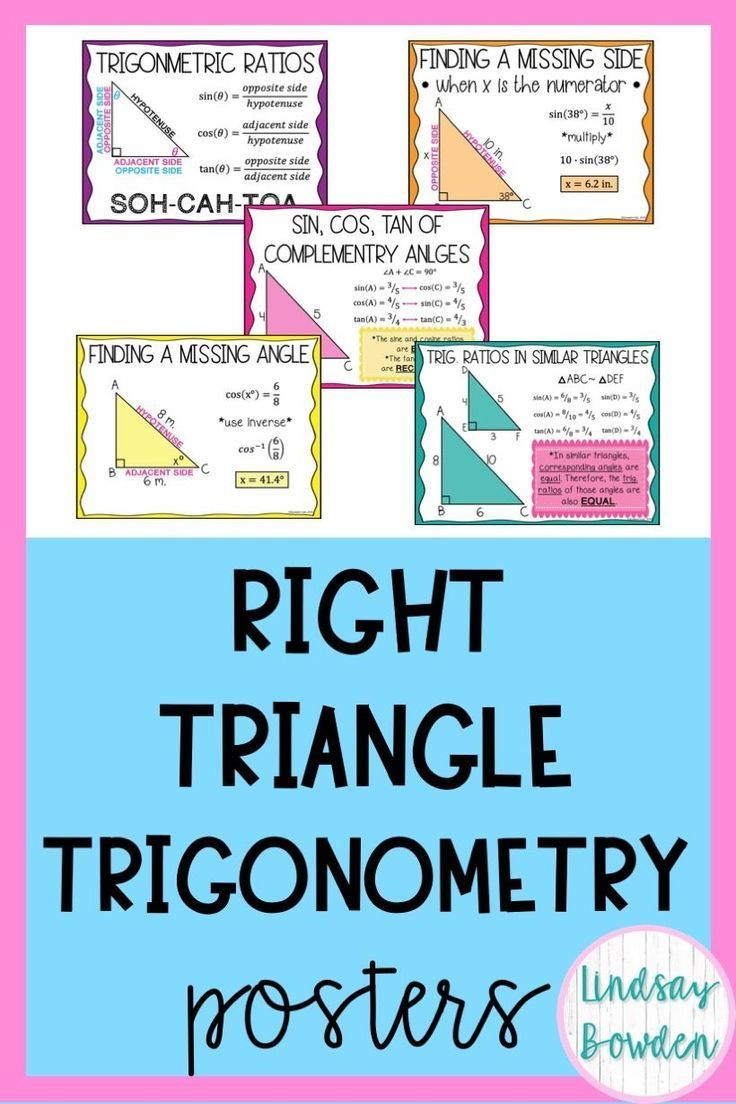 Right Triangle Trigonometry Posters Geometry Words Math Posters High School Right Triangle