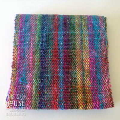 Woven Scarf With Noro Silk Garden Sock Yarn