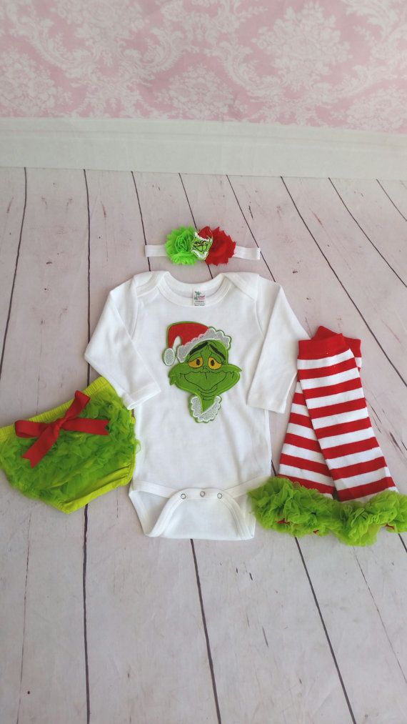Hey, I found this really awesome Etsy listing at https://www.etsy.com/listing/255082846/dr-seuss-the-grinch-christmas-outfit