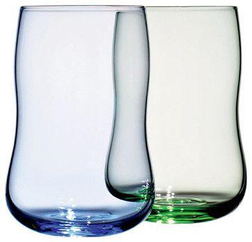 Holmegaard Future Glass Set - Blue + Green - Holmegaard - modern - Everyday Glassware - HORNE