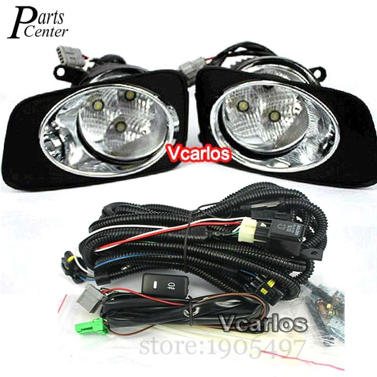 105.59$  Buy now - http://alixjz.worldwells.pw/go.php?t=32603526492 - LED Fog lights Lamp For Toyota Corolla 2010 Corolla Axio 2007 Fielder 2007 Daytime Running Rights With Wiring Kit Fog Light Set