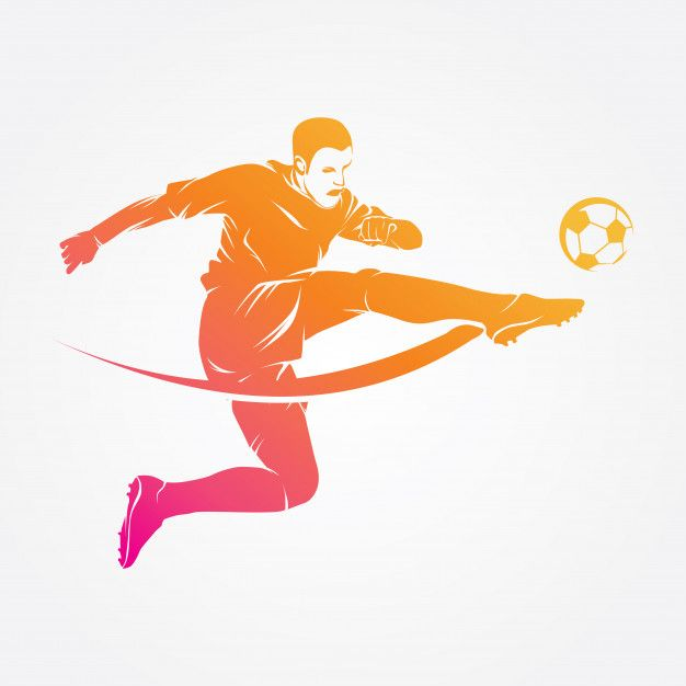 Soccer Player Logo Vector Silhouette Football Drawing Soccer Players Vector Logo