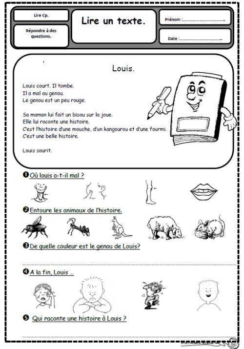 Petits textes pour travailler la lecture et la compréhension