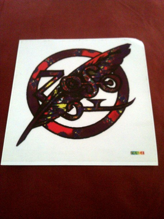 "Zoso (Led Zeppelin tribute band) 5 3/4""x5 3/4 clear STICKER DECAL new old stock"