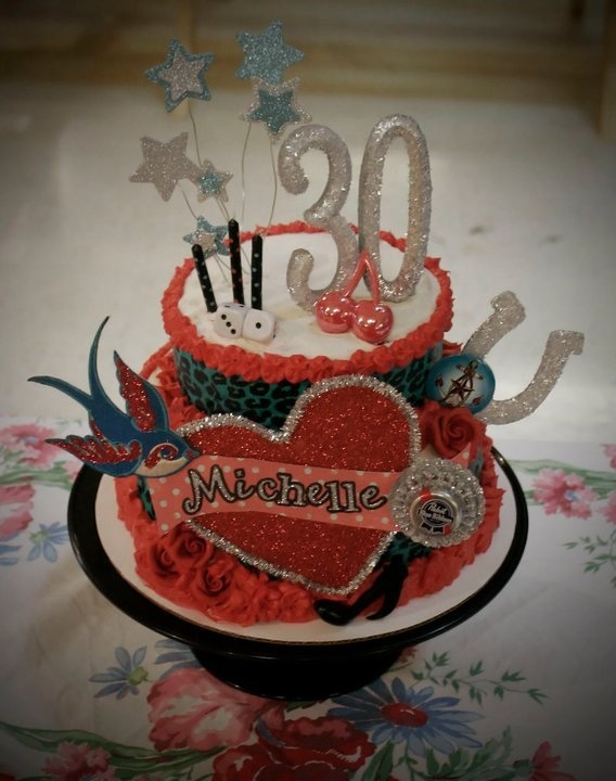 Best S S Theme Cakes And Cupcakes Images On Pinterest - Rockabilly birthday cake