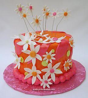 Decoracion de tortas Liliana: sombrero con flores