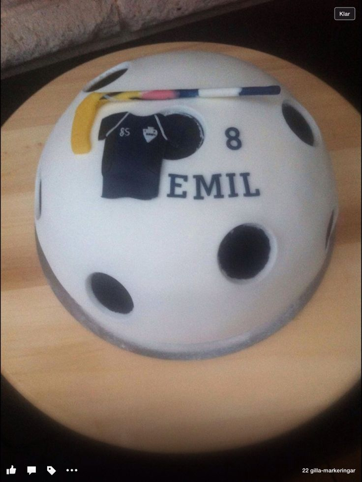 Floorball cake innebandytårta