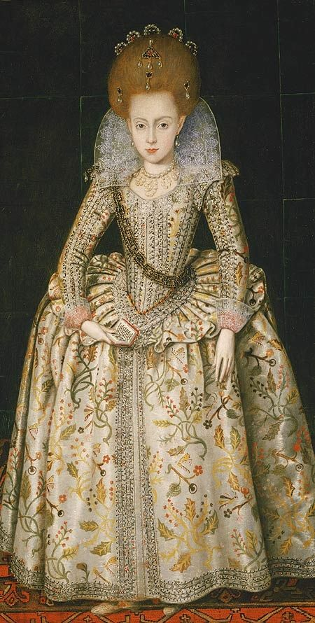 Princess Elizabeth (1596–1662), Later Queen of Bohemia, aged about 10 years old by Robert Peake the Elder - circa 1606