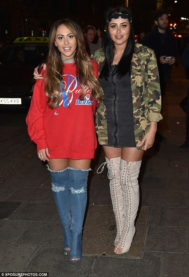 Family fun: Sophie Kasaei and Marnie Simpson led the glamour at the Newcastle wrap party for season 14 of Geordie Shore on Monday night