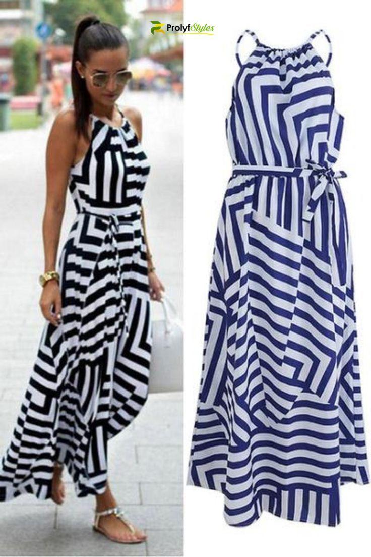 Shop Empire Waist Stripe Summer Dress Online From Prolyfstyles Com Summer Dresses Summer Dresses Online Striped Dress Summer [ 1104 x 736 Pixel ]