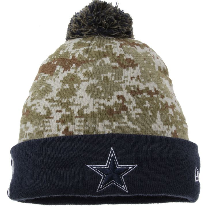 Youth Dallas Cowboys New Era Camo Salute To Service On Field Sport Knit Hat