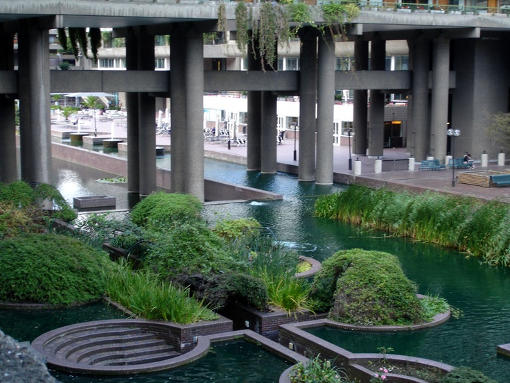 is this the Barbican Centre in London? is it built in the Le Corbusier style where the building is high above the ground? also check out: http://archinect.com/forum/thread/85964/le-corbusier-s-legacy