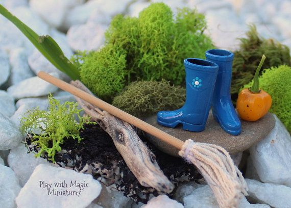 Miniature Wellington Boots Wellies Rain by PlaywMagicMiniatures, $12.00