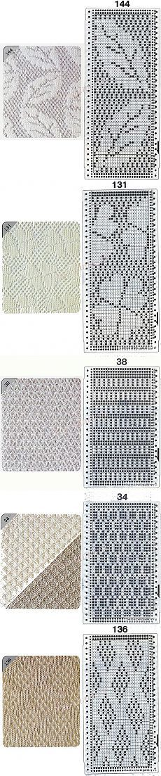 перфокарты и узоры для машинного вязания