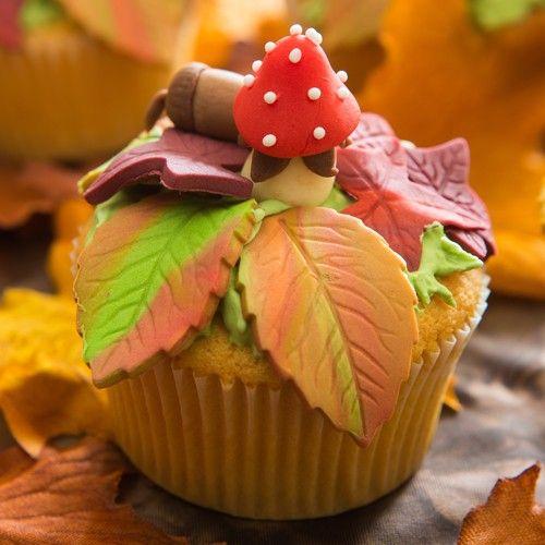 Herfst Cupcakes - Cupcakes - Recepten | Deleukstetaartenshop.nl