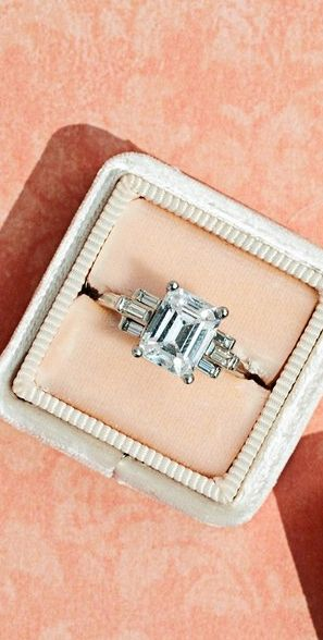 Emerald cut engagement rings inspired by diamond celebrity stunners.