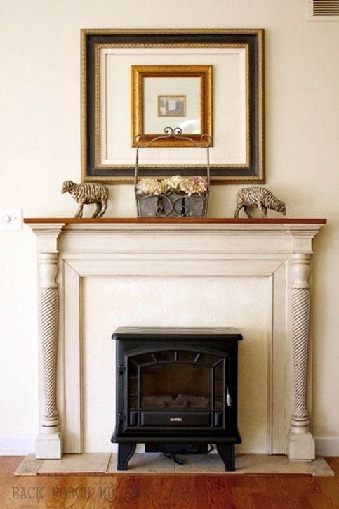 141 Best Images About My Fake Fireplace On Pinterest