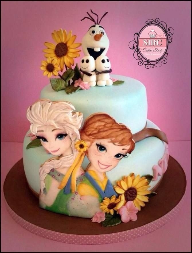Frozen Fever cake sunflowers! by Cristina
