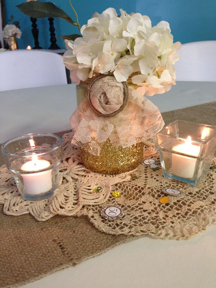 Centerpieces 50th anniversary party pinterest for Table decoration 50th birthday