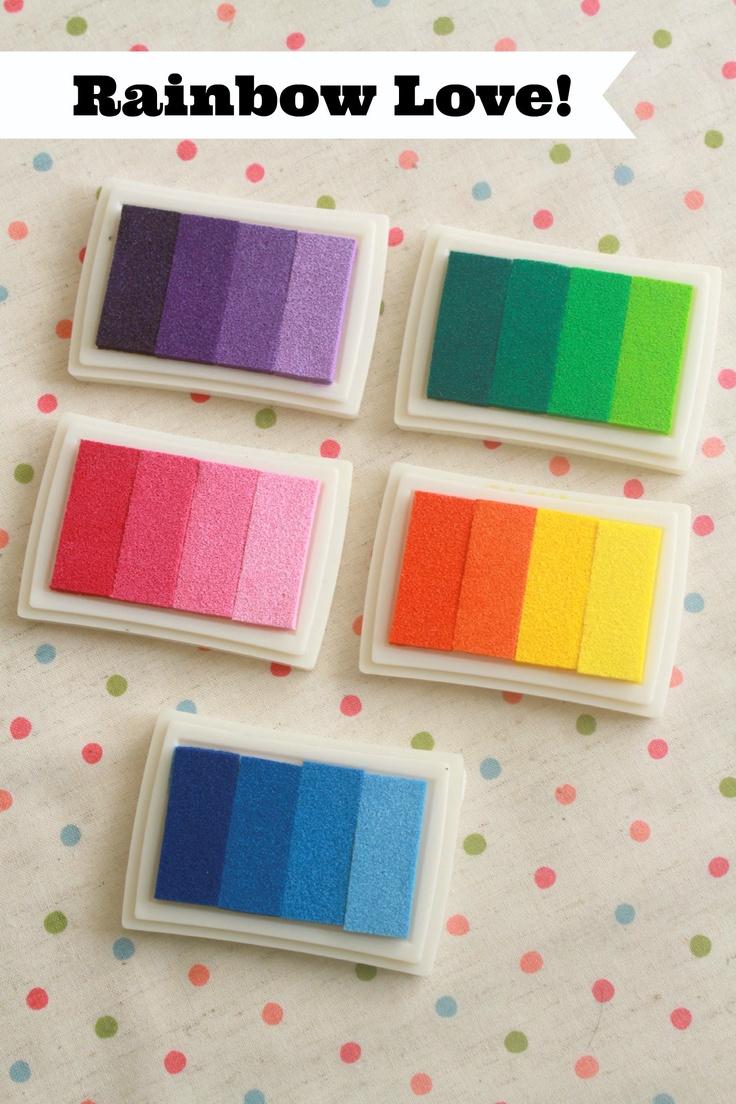 Rainbow Multi-shade Ink Pads at Chibi Run