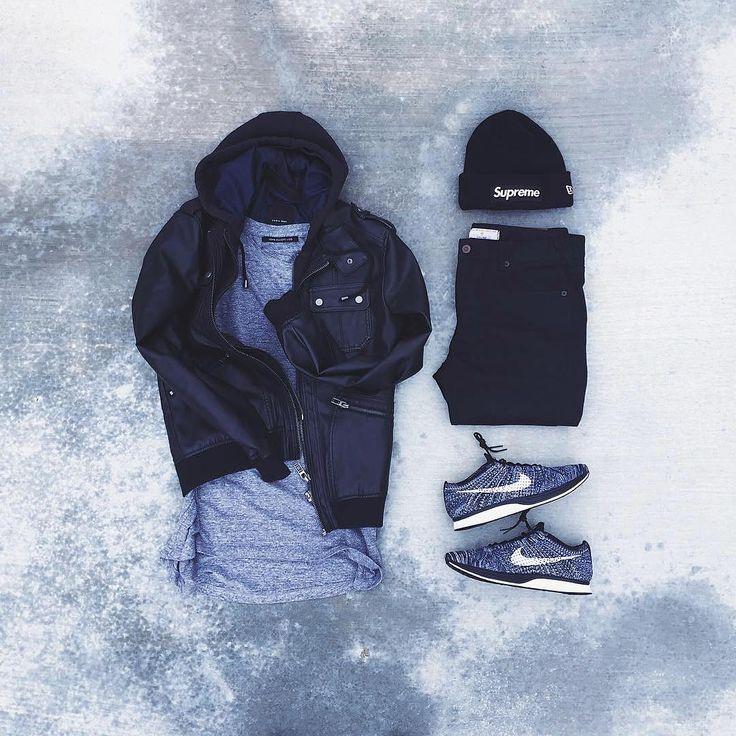 """or: #WDYWTgrid by @raadius #mensfashion #outfit #ootd : #Zara #JohnElliott : #Zara : #Nike #Flyknit Racer 'Oreo 2.0' : #Supreme x #NewEra #WDYWT…"""
