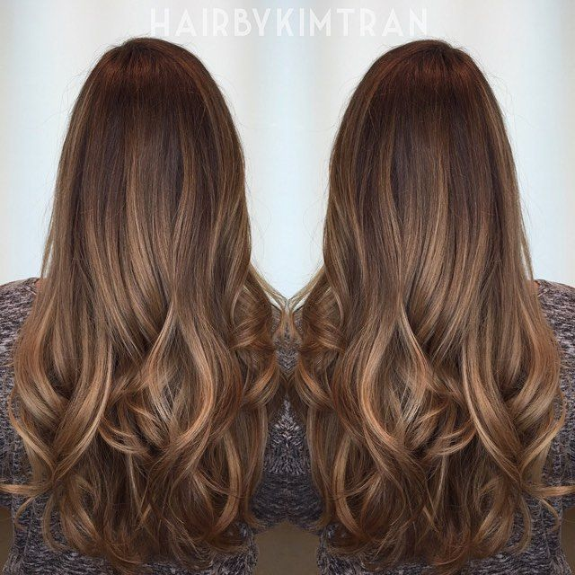 Shadowed roots with a honey melt #HBKT #HairByKIMTRAN #bestofchristmascolor