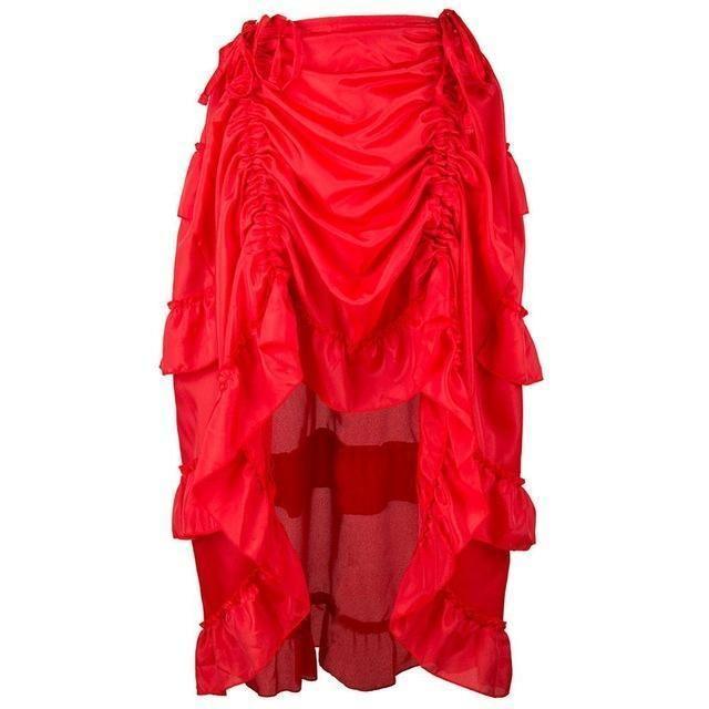 Ruffled Vintage Steampunk Skirt