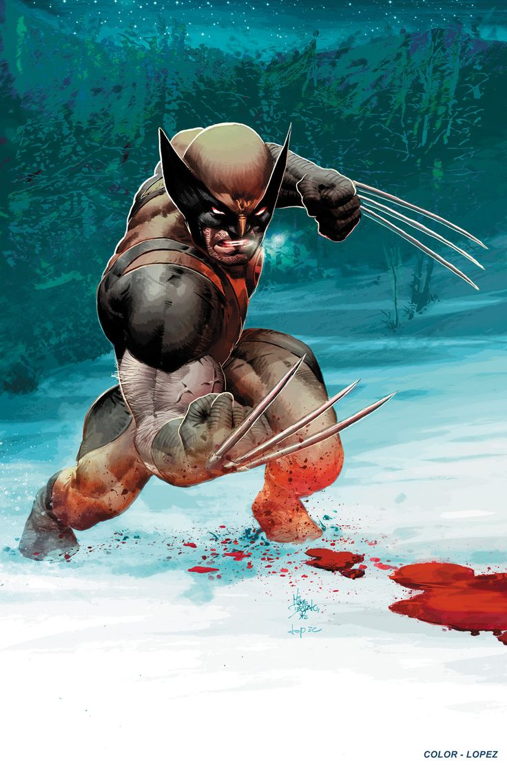 "mikedeodatojr: "" Wolverine. Colors by Carlos Lopez "" Wolverine by Mike Deodato Jr. Colors by Carlos Lopez"
