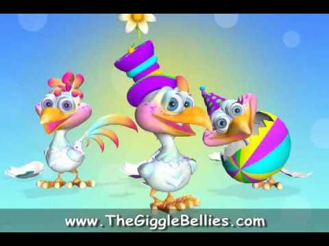 Have an Eggscellent Easter from the GiggleBellies! - Silly Chicken Dance...