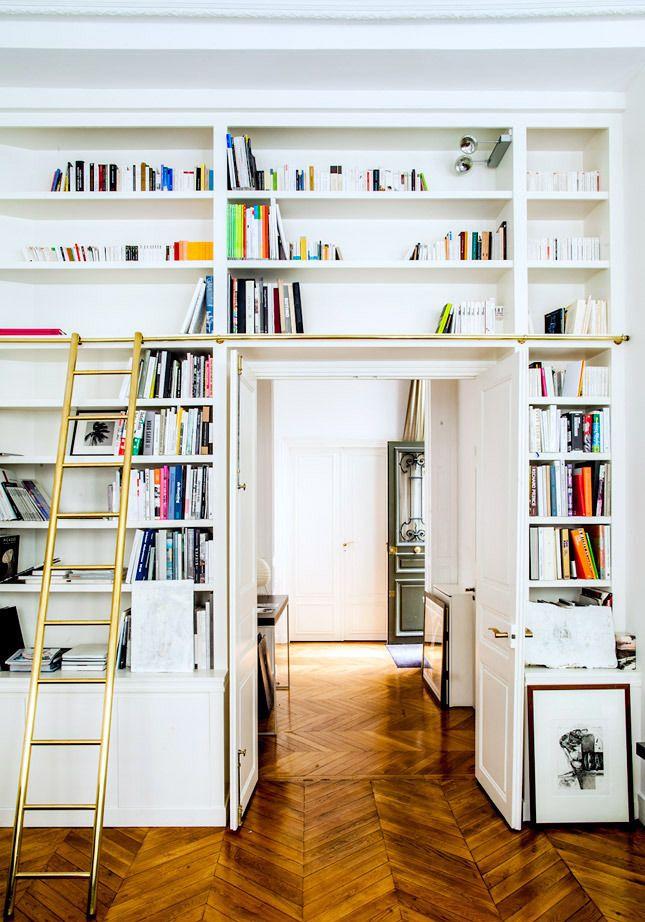 brass ladder details // Gaia Repossi's Paris apartment.