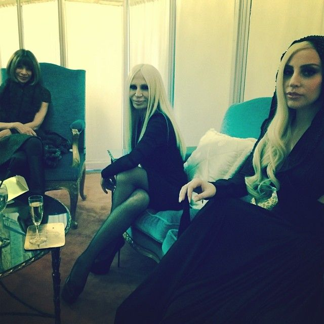 Anna Wintor, Donatella Versace, and Lady Gaga.