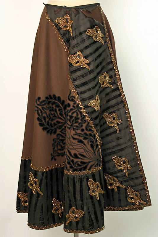 Skirt, late 19th century, Spanish