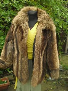 #Winter#clubbing#Canadian#raccoon#real#fur#jacket#Christmas#gift#celebrities#style#like#new#