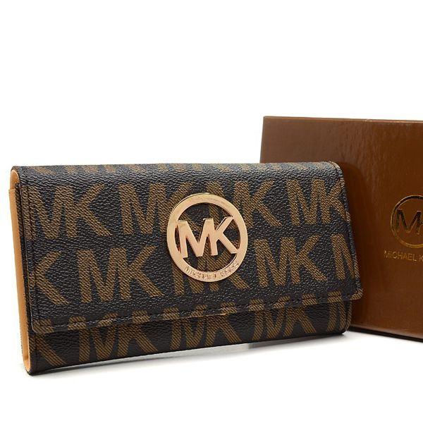 Michael Kors Envelope Logo Large Brown Wallet