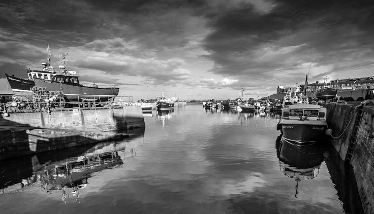 https://flic.kr/p/Hqe62s | Seahouses Harbour View (Mono). | Taken at Seahouses, Northumberland on 29/03/2016.