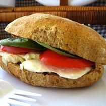 Mozzarella, tomato and basil ciabatta