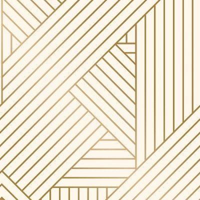 Metallic Ribbon Peel Stick Wallpaper Gold Ivory Project 62 Peel And Stick Wallpaper Wallpaper Accent Wall Wallpaper Project