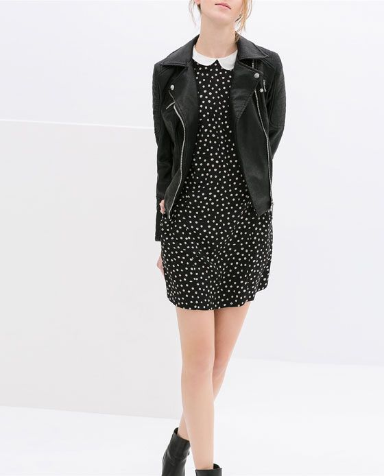 Image 1 of MOTORCYCLE JACKET WITH ZIPS from Zara