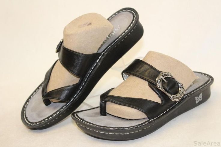 Alegria By PG Lite Womens 37 7 7.5 Val-641 Valentina Black Butter Shoes wp #Alegria #Slides