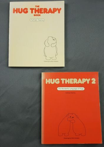 The Hug Therapy Book & Hug Therapy 2 by Kathleen Keating (1983, Paperback) by ThatsLifeInVintage on Etsy