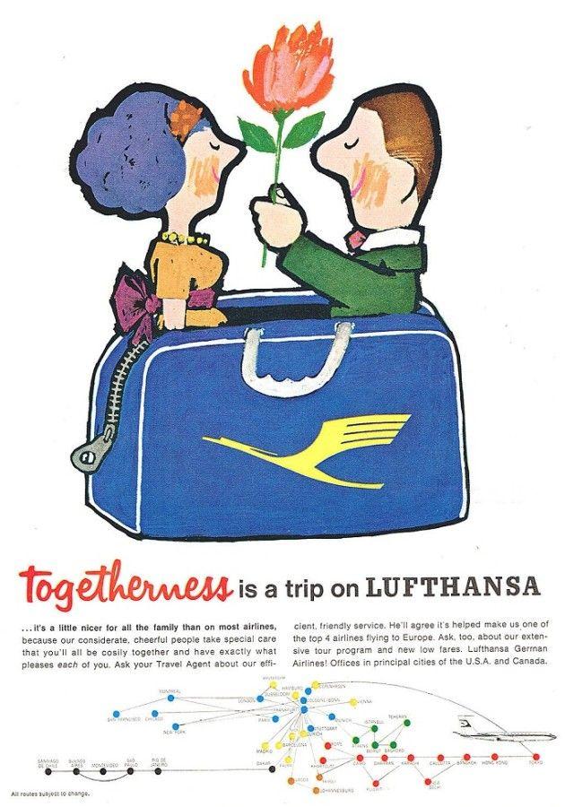 Frizzifrizzi » Tesori d'archivio: le vecchie pubblicità delle compagnie aeree