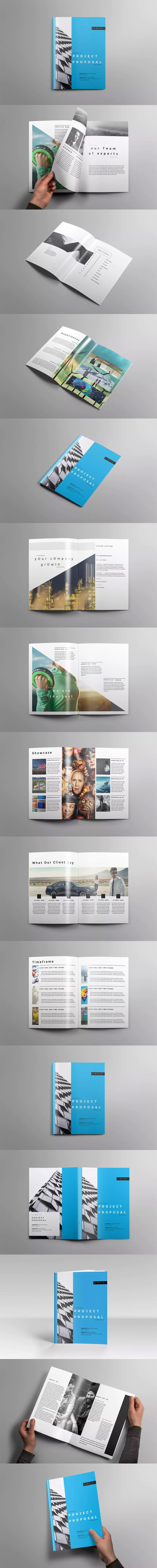 agency proposal template%0A Proposal Template InDesign INDD US Letter Size