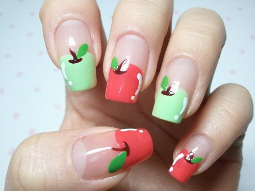 apple nails: Nails Art Tutorials, Back To Schools, Apples To Apples, Nails Design, Fall Nails, Nailart, Manicure, Teacher, Apples Nails